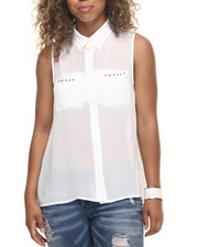 Polos & Button-Downs - Ron Hi-Low Sleeveless Top