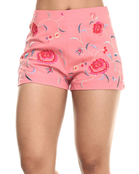 Ur-ID 218515 Fashion Lab - Women Pink Dani Floral Short