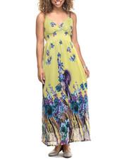 Dresses - Floral Print Chiffon Maxi