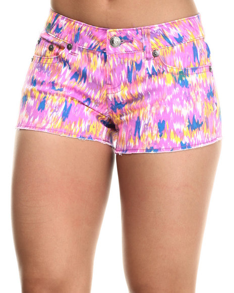 Request Jeans - Women Multi Streak Printed Short