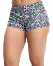 Women - Violet Printed Short