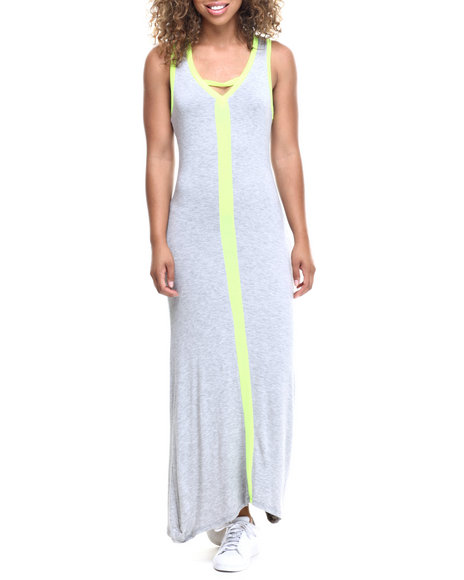 Ur-ID 218529 Fashion Lab - Women Grey Sporty Maxi Dress by Fashion Lab