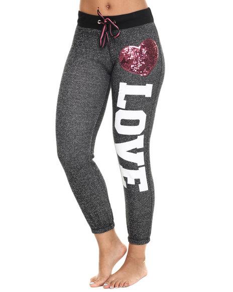 Ur-ID 218554 Fashion Lab - Women Grey Love Yoga Pant