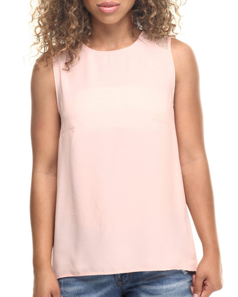 Fashion Lab - Women Ivory Chiffon Tank Top