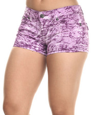 Shorts - Purple Splash Jean Short