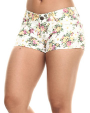 Fashion Lab - Creame Floral Print Jean Shot