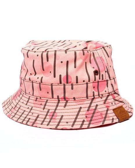 Ur-ID 218667 Pink Dolphin - Men Pink Rain Camo Bucket