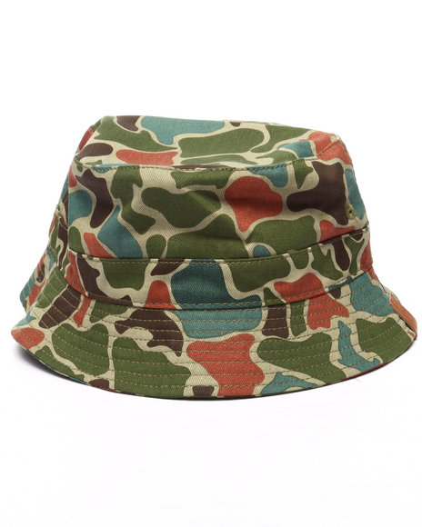 Ur-ID 218668 Pink Dolphin - Men Green Frog Camo Bucket Hat