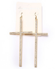 Jewelry - Bling Cross Earrings