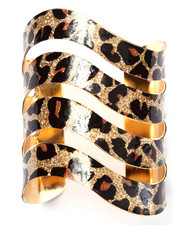 DRJ Accessories Shoppe - Leopard Wave Cuff Bracelet
