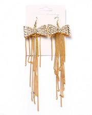 Jewelry - Bows & Fringe Statement Earrings