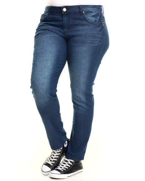 Ur-ID 217161 Basic Essentials - Women Dark Blue Butt Lifted Skinny Jean (Plus)