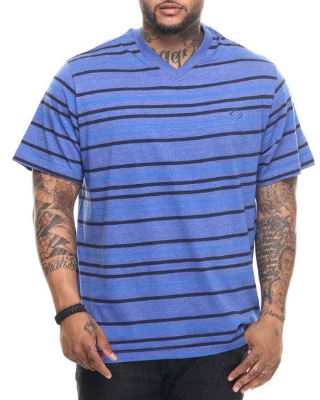 Enyce - Men Blue Rezzi Striped T-Shirt (B&T)