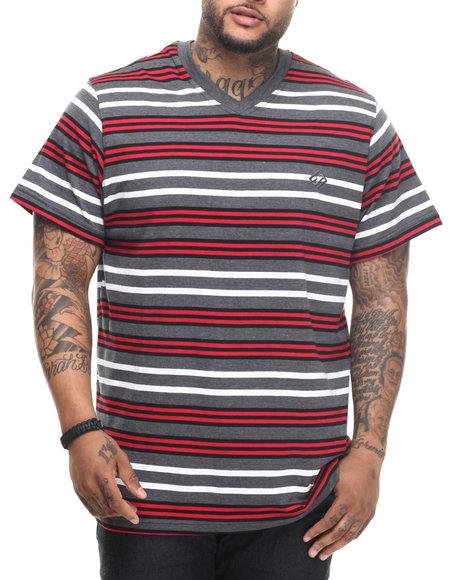 Enyce - Men Charcoal Raquel Striped T-Shirt (B&T)