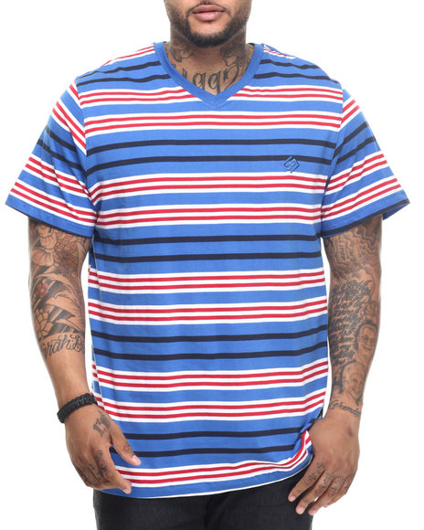 Ur-ID 218281 Enyce - Men Blue Raquel Striped T-Shirt (B&T)