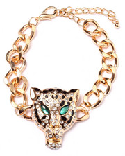 DRJ Accessories Shoppe - Jeweled Leopard Statement Bracelet