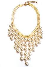 Women - Pearl Drop Bib Necklace