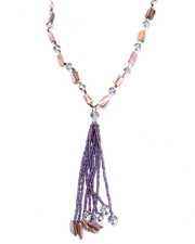 Women - Beaded Tassel Necklace