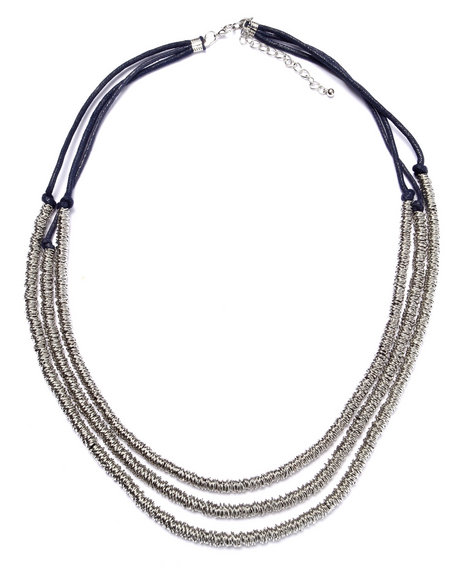 Drj Accessories Shoppe Women Layered Statement Necklace Silver