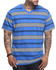 Enyce - Charles Yarn Dye V-Neck T-Shirt (B&T)
