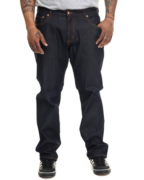 Lrg - Men Dark Wash Core Lrg True Straight Denim Jeans (B&T)