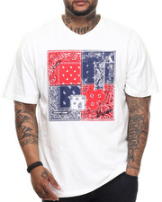 Men - Bandana Pattern V-neck tee (B&T)