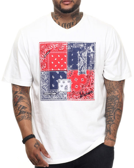 Ur-ID 217549 Winchester - Men Off White Bandana Pattern V-Neck Tee (B&T)