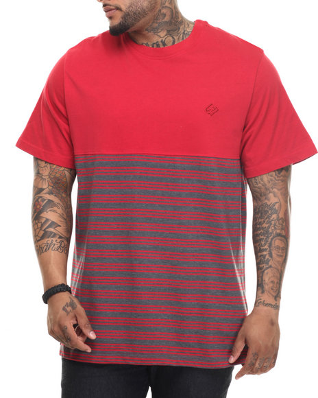 Enyce - Men Red Alicia Striped T-Shirt (B&T) - $19.99