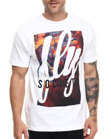 Flysociety - Men White Lava Cloud T-Shirt