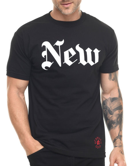 Ur-ID 218716 Acapulco Gold - Men Black New (York Times) Tee