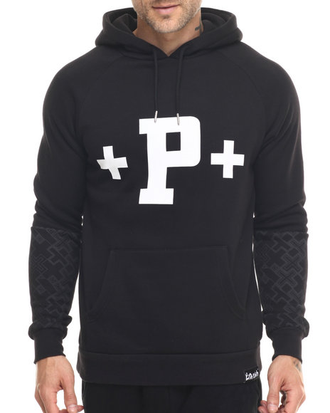 Ur-ID 218664 Pink Dolphin - Men Black Flying P Hoodie