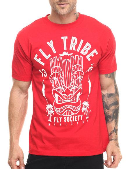 Flysociety - Men Red Fly Tribe T-Shirt
