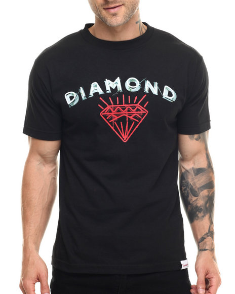 Diamond Supply Co - Men Black Jewelers Row Tee
