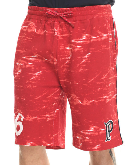 Parish - Men Red Printed Sweatshort