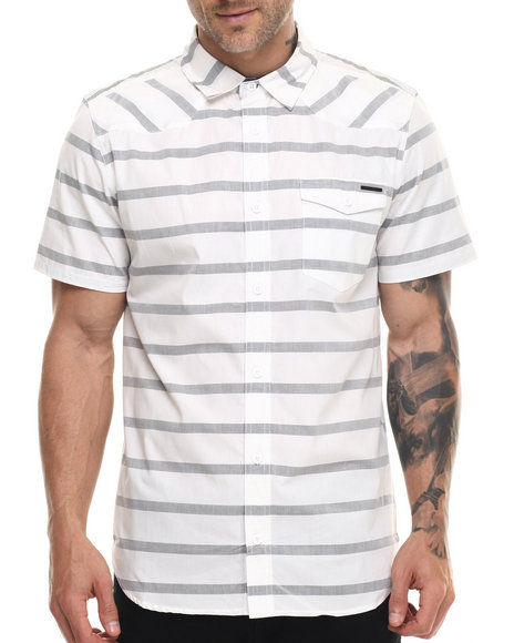 Ur-ID 218731 Ecko - Men Ivory Striped S/S Button Down