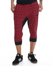 Men - Aztec Print Jogger Short