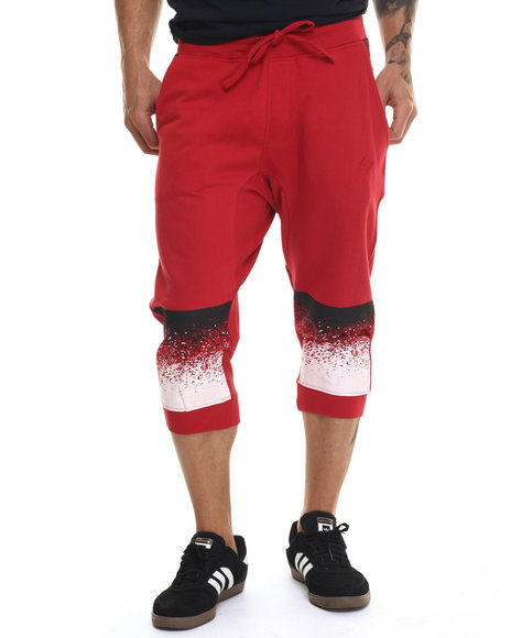 Enyce - Men Red Splatter Print Jogger Short - $13.99
