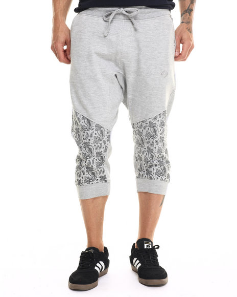 Enyce - Men Light Grey Paisley Print Jogger Short