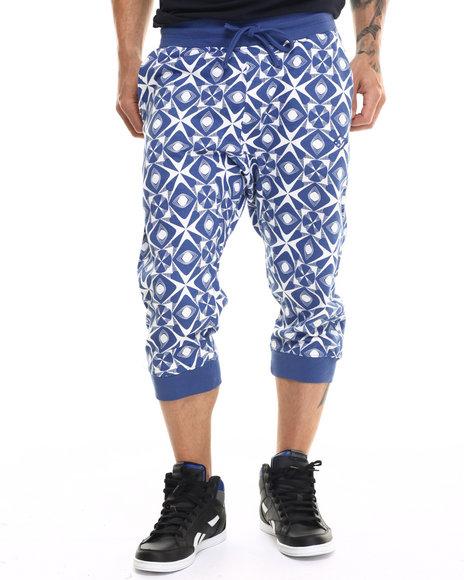 Enyce - Men Blue Kaleidoscope Printed Jogger Shorts