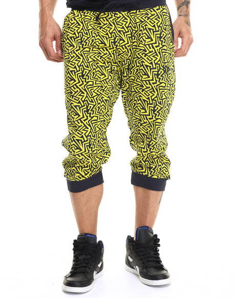 Enyce - Men Navy Geo Printed Jogger Shorts