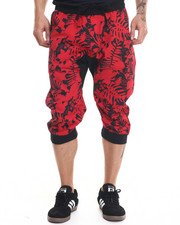Men - Floral Printed Jogger Shorts