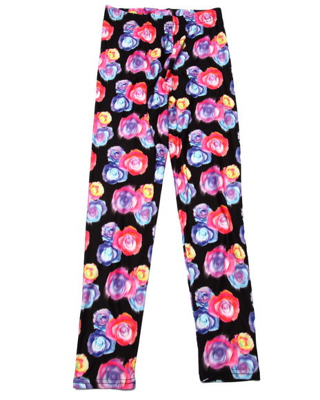La Galleria - Girls Multi Roses Leggings (7-16)