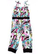 La Galleria - GRAFFITI CAPRI JUMPSUIT (4-6X)