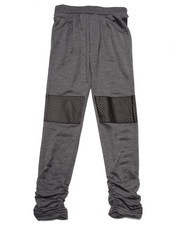 La Galleria - FAUX LEATHER KNEE PATCH JOGGERS (7-16)