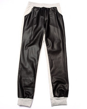 La Galleria - FAUX LEATHER FRONT JOGGERS (7-16)