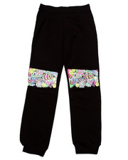 La Galleria - GRAFFITI KNEE PATCH JOGGERS (7-16)