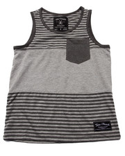 Tops - STRIPED POCKET TANK (8-20)