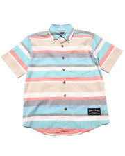 Button-downs - S/S STRIPED WOVEN (8-20)
