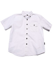 Button-downs - S/S SOLID WOVEN (8-20)