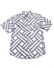 Button-downs - S/S GEO PRINT WOVEN (8-20)